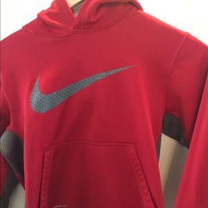Red Nike boys hoodie